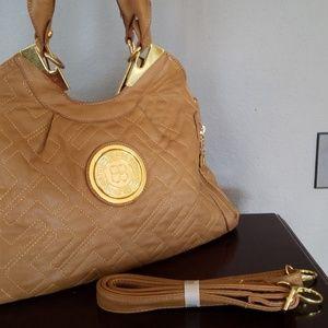 Handbags - Large Dark Tan Leather-Like Purse